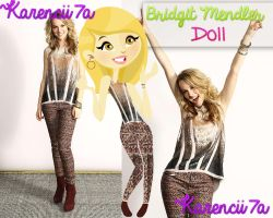Bridgit Mendler Doll (PNG) by Karencii7a