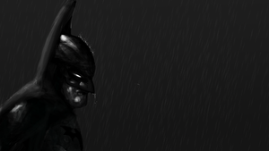Batman in the Rain by Jinchur