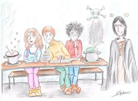 Snape's lesson by Eveliien
