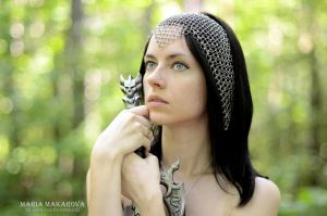 Chainmail headscarf 'Joan' by Madormidera