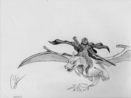 Darth Vader riding a Charizard by CodyBad