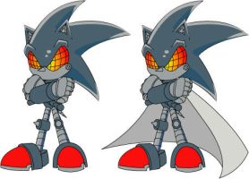 Silver Sonic II with cape by TheWax