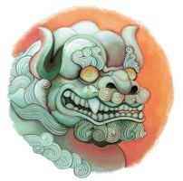 Jade Foo Dog Vignette by White-Tean