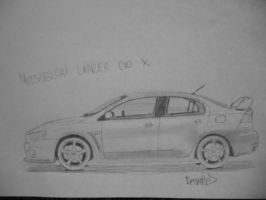 Mitsubishi Lancer Evolution X [Car drawing] by Danchix