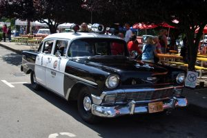 56 Belair Cop Car by indigohippie