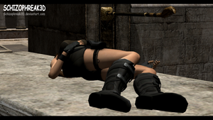 Lara Croft - Unconscious 6 by Schizophreak3D