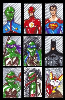 Sketch Cards 1 by shaunamobley
