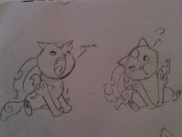 chibi yawned, chibi confuseded by SQUIRRELADOR