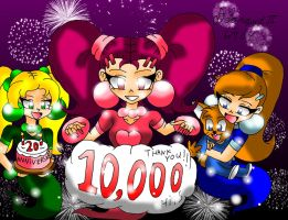 10,000 Pageviews and 20th Drawing Anniversary by dsargent