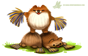 Daily Paint #1009. Pom-Poms (bleghh...) by Cryptid-Creations