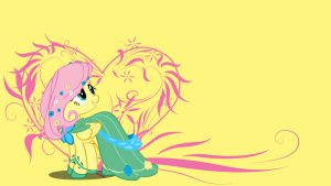 Simply Fluttershy Wallpaper by bluepaws21