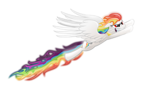 Flaring Rainbows by Super-Rainbow-Dash-Z