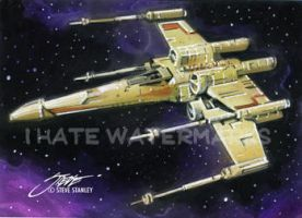 Star Wars_X-Wing Fighter_Sketch Card by SteveStanleyArt
