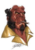Hellboy Head Shot by Buchemi
