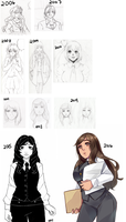 Evolution of Naomi by R0cket-Cat