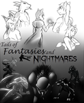 Tails of Fantasies and Nightmares Cover by FrostLupus