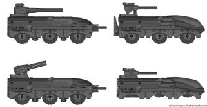Stoneblazer APC Variants by king11fallen