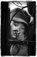 face of the child by teguharyo by teguharyo