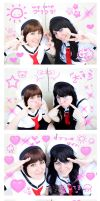 PURIKURA SakuraAndTomoyo by Phadme