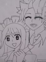 NaLu Lineart (2) by 19flameprincess