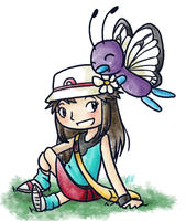 Request: Butterfree and Blue by RitsuBel