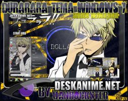 Shizuo Heiwajima Theme Windows 7 by Danrockster