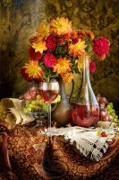 Still-life and autumn-flowers by cheyanne-mia2