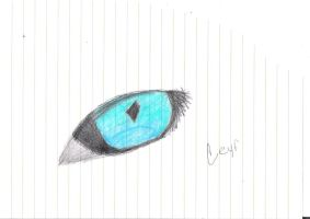 Blue and Green Cat Eye by CourtEatsYourFries