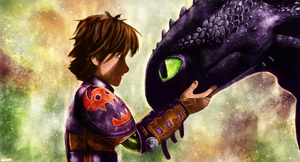 How to Train Your Dragon - Hiccup and Toothless by p1xer