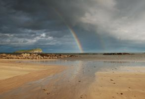North Berwick Rainbow by adischordantrhyme