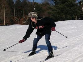 my first time skiing by lisabean