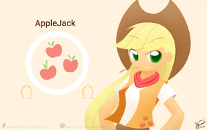 Weekly art#18 AppleJack by HowXu