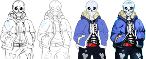 [Undertale]:~Step-By-Step Art Process~ by The-Star-Hunter