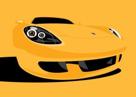 Porsche Carrera GT Yellow by LasseBauer