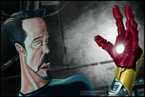 TONY STARK - IRON MAN Robert Downet Jr Caricature by fabfactor