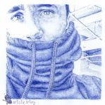 Jake Bass. Blue biro by artisticartery