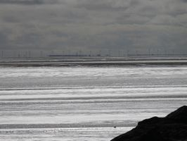 Wind turbines n the dstance by Breezypants