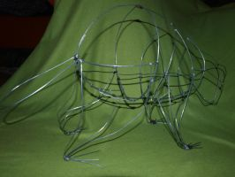 porcupine in wire, WIP by AjaKunoichi