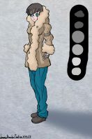 Anime Drawing : Girl wearing a Winter Jacket by ineedpractice