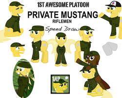 Private mustang speed draw by FirstAwesomePlatoon