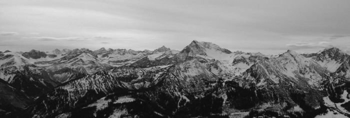 View from the Einstein (Alps) (BW version) by 9domi99