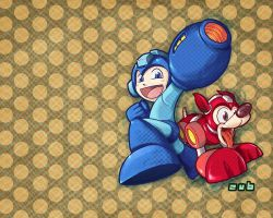Mega Man Tribute - Wallpaper by Zubby