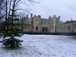 Highcliffe Castle in Snow by LadyxBoleyn