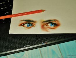 Percy Jackson's eyes by rommeldrawlines-12
