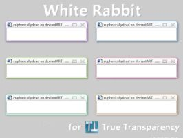 White Rabbit TrueTransparency by euphoricallydead