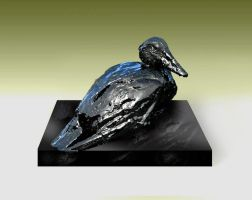 Oil Spill Duck Sculpture by livesteel