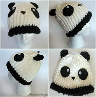 Panda Hat by ABlueLotusDesigns