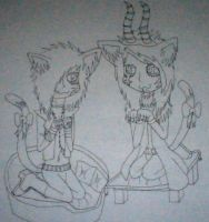 Andy Biersack and Dahvie Vanity Nekos by xRainSuicidex