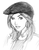 girl in hat by LyleStyleZ
