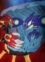Primal Groudon vs. Kyogre by GSlayer2004